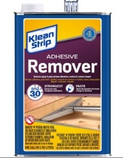 Chemical Adhesive Removers