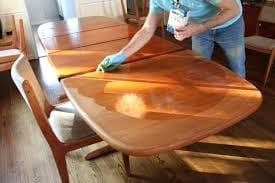 Deep Cleaning A Wooden Table
