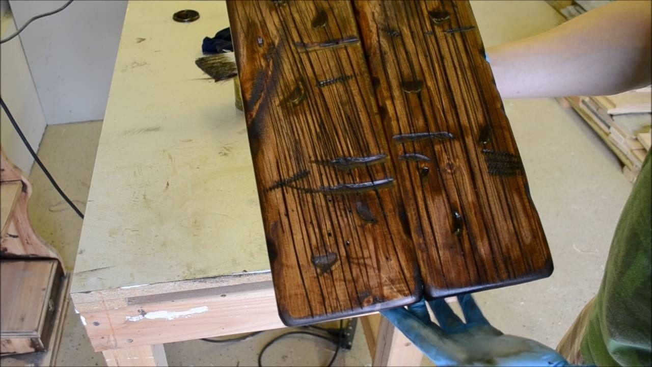 How To Make New Wood Look Old Cut The Wood