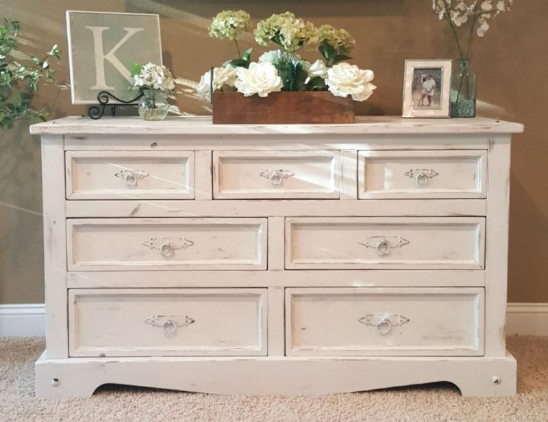 How To Distress Wood With Chalk Paint
