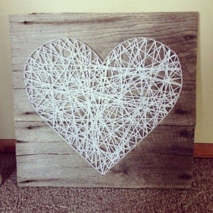How To Do String Art On Wood