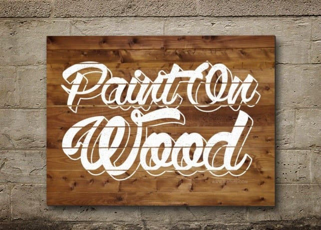 How To Paint Letters On Wood Cut The Wood