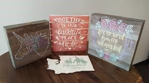 How To Paint With Stencils On Wood 1