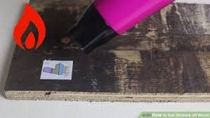 How To Take Stickers Off Wood 1