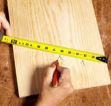 Measure And Sand Wood