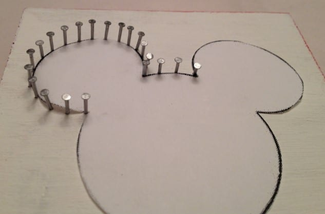 Outline The Shape With Nails Or Pins