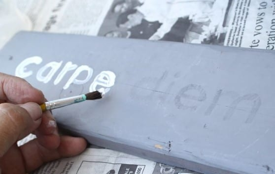 Painting Letters By Freehand