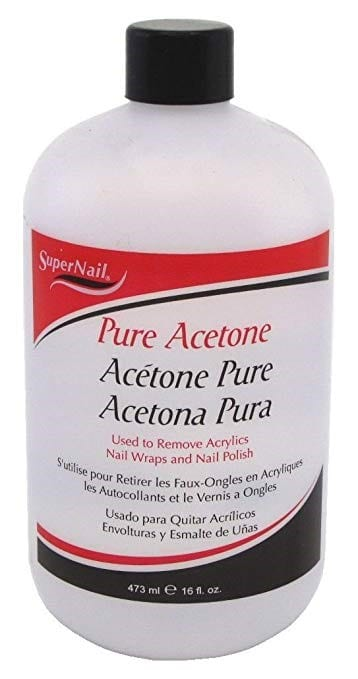 Place Acetone On A Paper Towel And Use This On The Glue 1