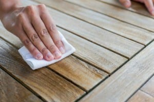 Soak The Oil Stain With A Paper Towel