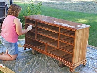 Staining Your Dresser