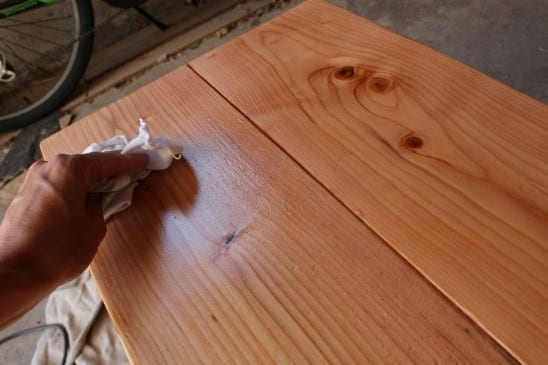 Step 1 Apply The Wood Stain
