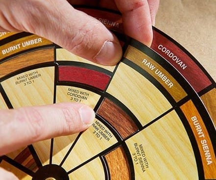 Step 1 Pick A Matching Color With The Help Of A Finisher's Color Wheel And A Stain Palette