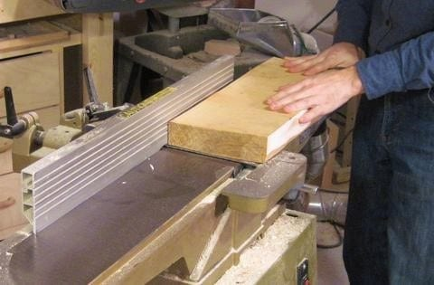 Step 1 Straighten The First Face Of The Board With A Jointer