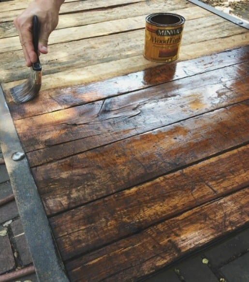 Step 2 Stain The Pallet Wood And Finish With A Suitable Top Coat
