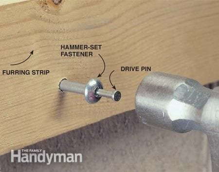 Using Special Pre Drilled Fasteners Step 1