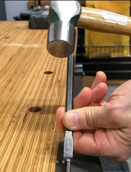 Using A Hammer And A Chisel 1