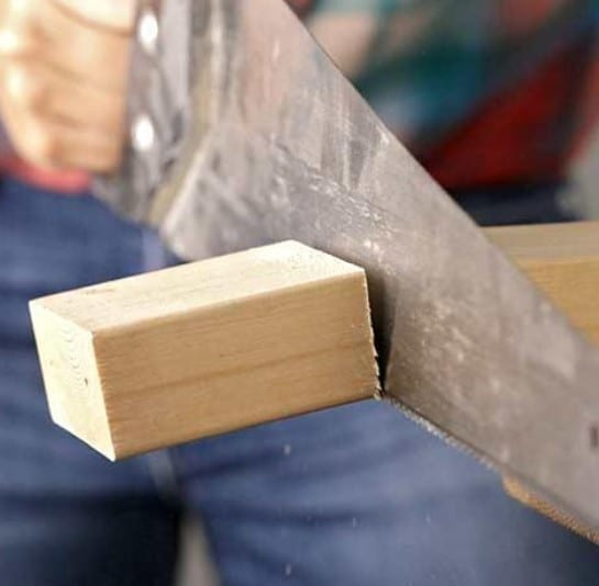 Using A Hand Saw Step 3