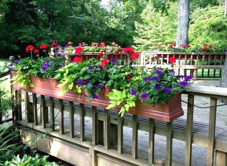 Diy Mounted Flower Box For Deck