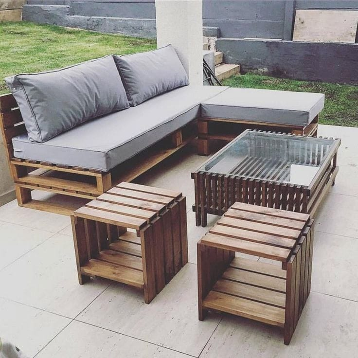 10 Pallet Outdoor Furniture DIY Plans – Cut The Wood