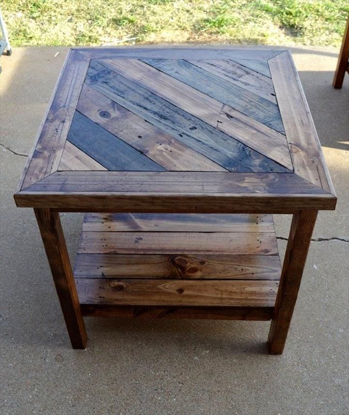 Diy Pallet End Table Plan With Downloadable Pdf