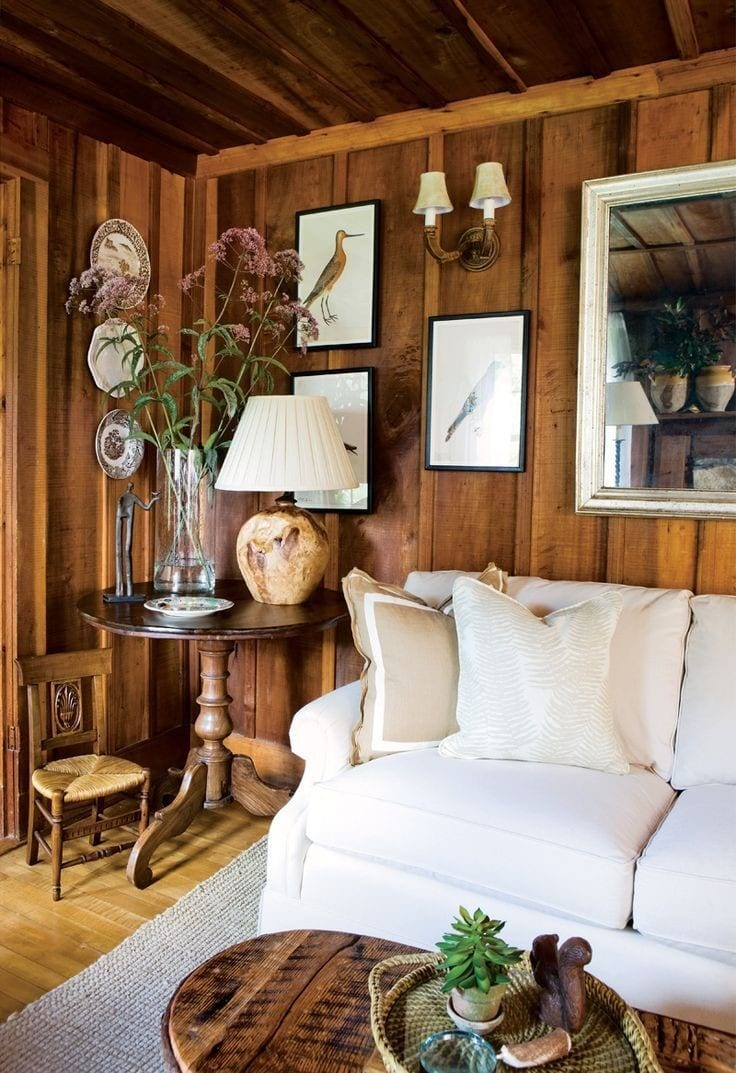 How To Decorate A Living Room With Wood Paneling