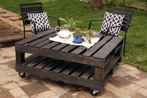 Pallet Patio Coffee Table 2