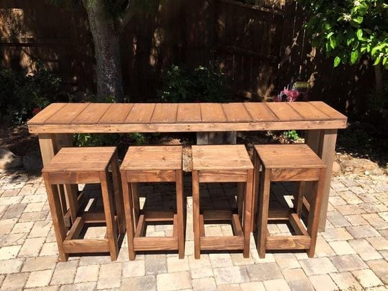 Pallet Wood Stool Chair