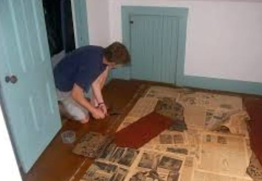Remove A Small Piece Of Tacky Paper Or Underlayment Gunk