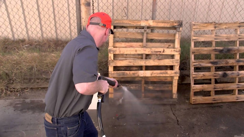 Rinsing The Wood Use A Garden Hose Or A Power Washer
