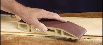 Sand The Wood Before You Start Using A 320 Grit Sandpaper