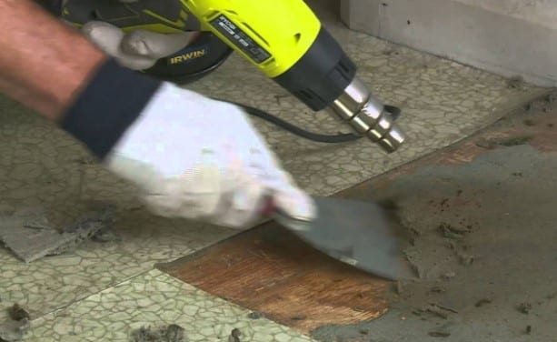 Use A Simple Scraper Tool To Work With Delicate Linoleum