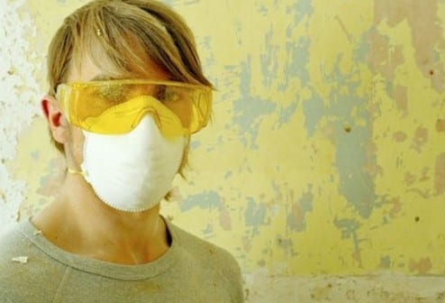 Work Using Goggles Gloves