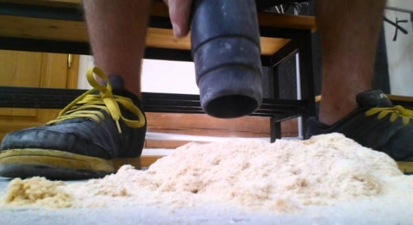 Vacuum Any Sawdust And Wipe The Surface