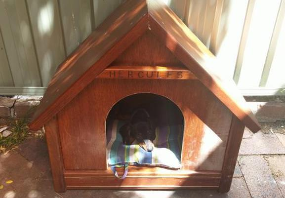 Diy Cute Dog House Made Of Surplus Dining Table