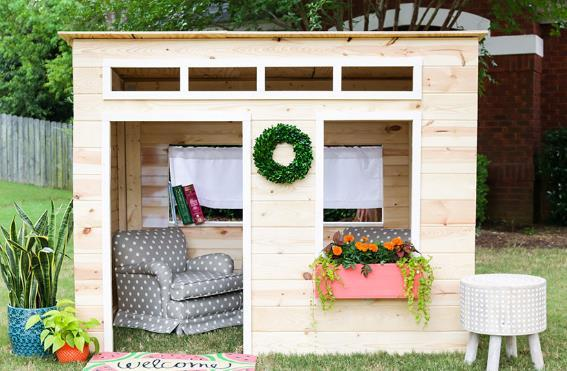 Easy To Do Playhouse Diy Plan By Jen Wood House