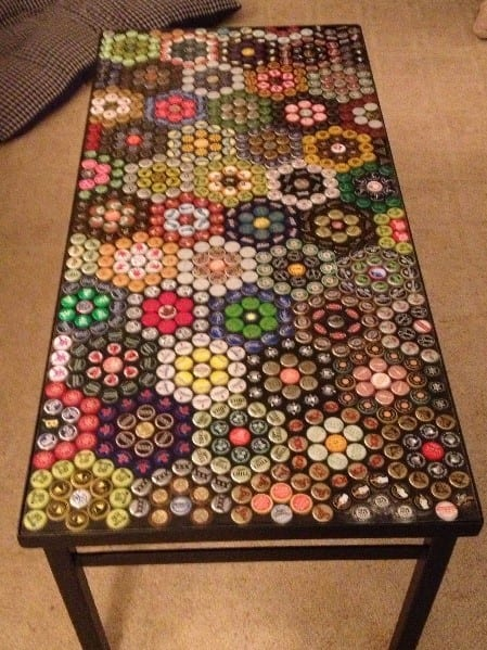 How To Attach Bottle Caps To Wood