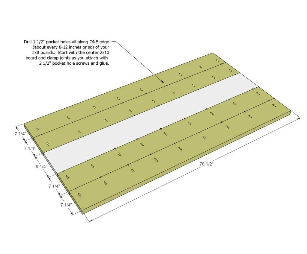 Lay The Best 4 Planks Out On A Clean And Flat Surface
