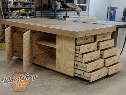 Outfeed Workbench Torsion Box Top Downdraft Sanding