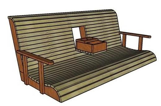 Porch Swing With A Cup Holder