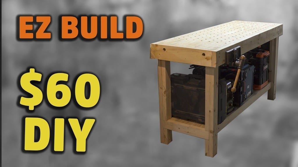Simple Torsion Box Workbench With Handy Fixturing Surface