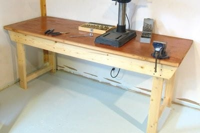 Workbench With A Solid Core Door For 35