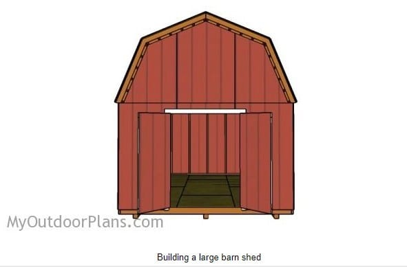 12 By 16 Diy Barn Shed Plans 3