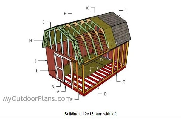 12 By 16 Diy Barn Shed Plans