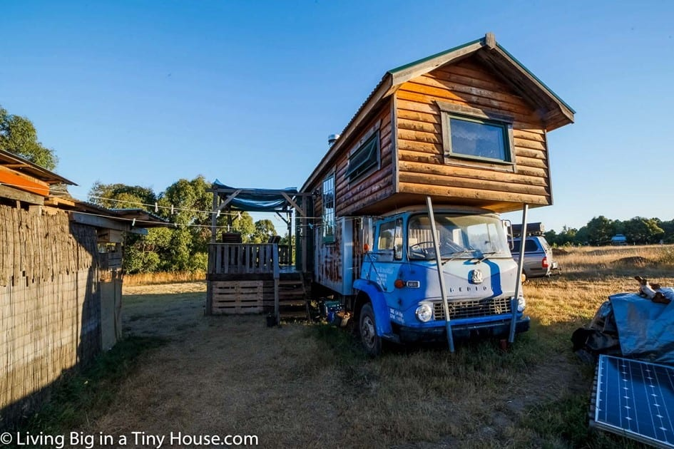 Amazing Tiny Truck House From Reclaimed Material