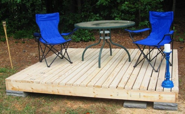 Diy Pallet Floating Deck By The Garden Glove And Instructables