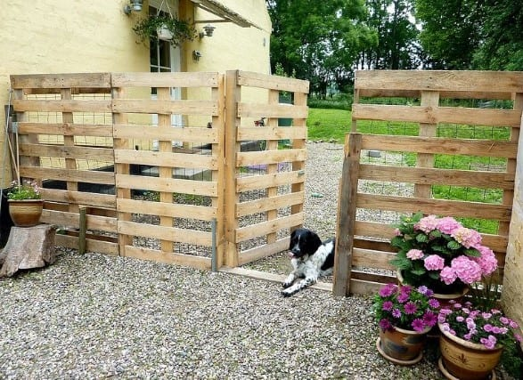 Easy To Do Pallet Fence By Home Talk
