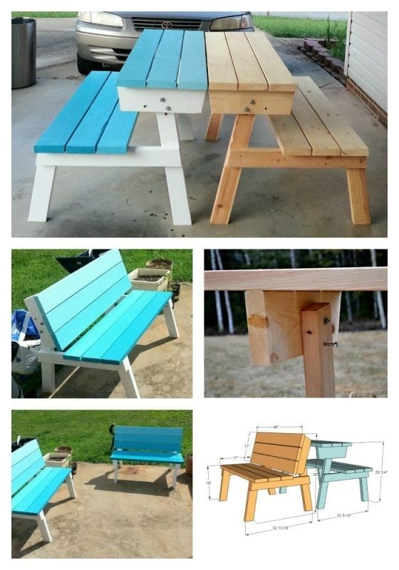 Foldable Chair That Turns Into A Picnic Table