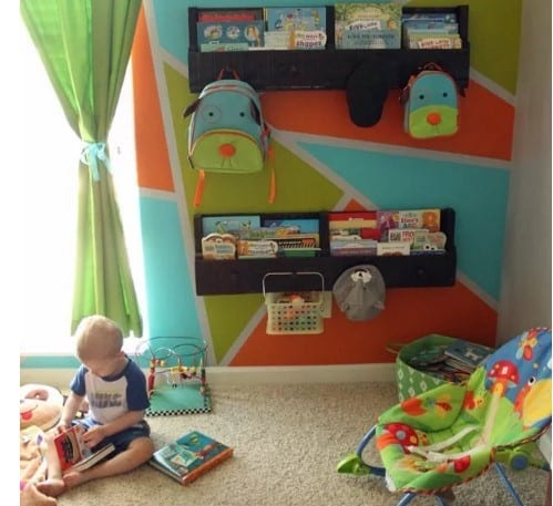 Pallet Bookshelves By Where The Smiles Have Been