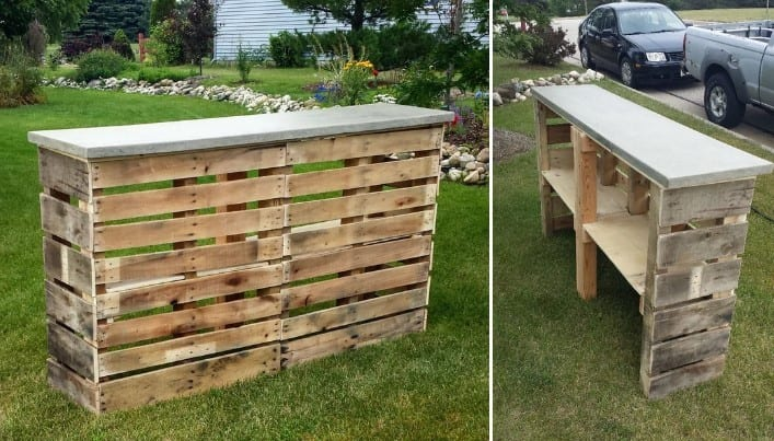 Pallet Patio Bar By Instructables