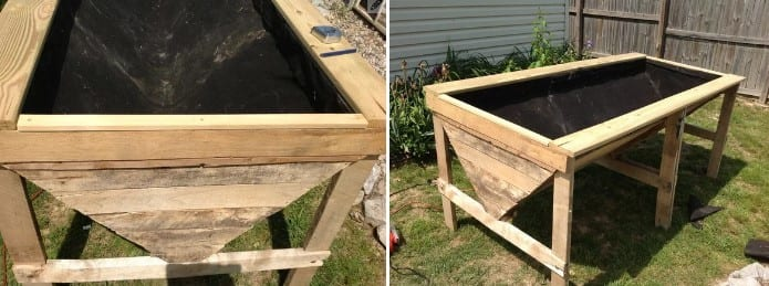 Pallet Raised Planter Bed By Instructables
